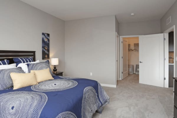 Spacious master bedroom at Park West 205 Apartment Homes in Pittsburgh, Pennsylvania