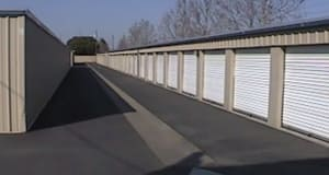 Wide driveways for easy unit access at Storage Star in Modesto, California