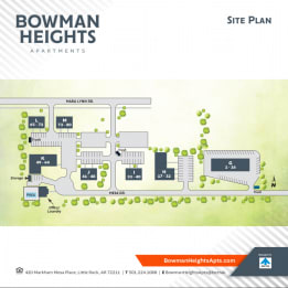 site map at Bowman Heights