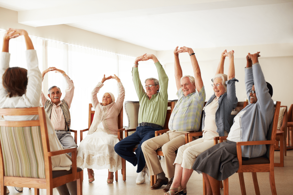 Exercise groups at Chandler's Square Retirement Community in Anacortes, Washington