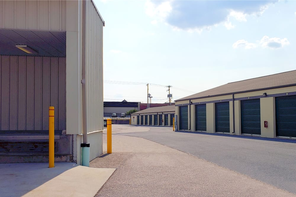 Outdoor storage units at Capital Self Storage in York, PA