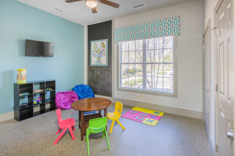 Kids play room at Arbor Village in Summerville, South Carolina