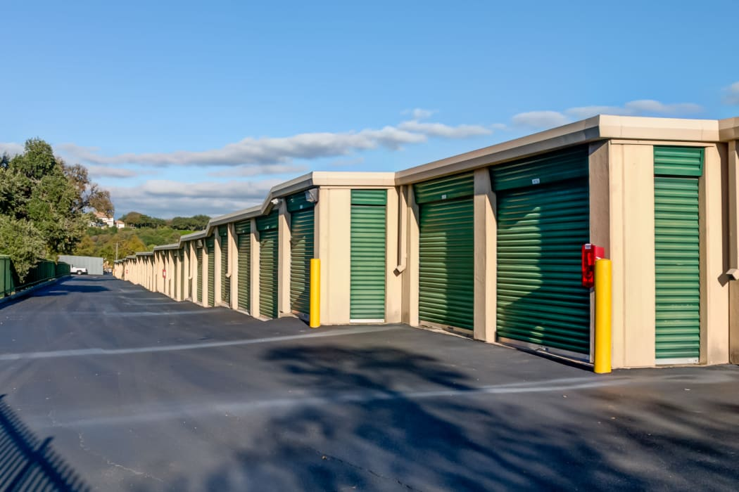 Exterior storage units at Lockaway Storage in San Antonio, Texas