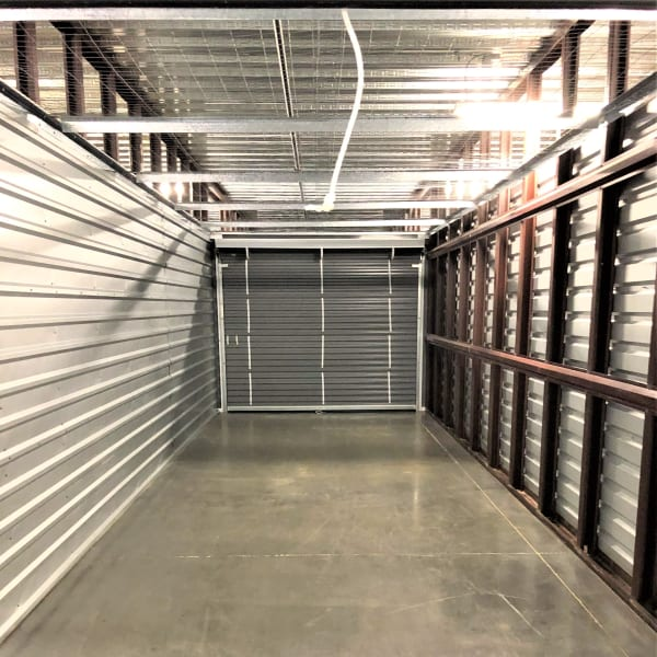 Inside of a self storage container in Durham, North Carolina at My Neighborhood Storage Center