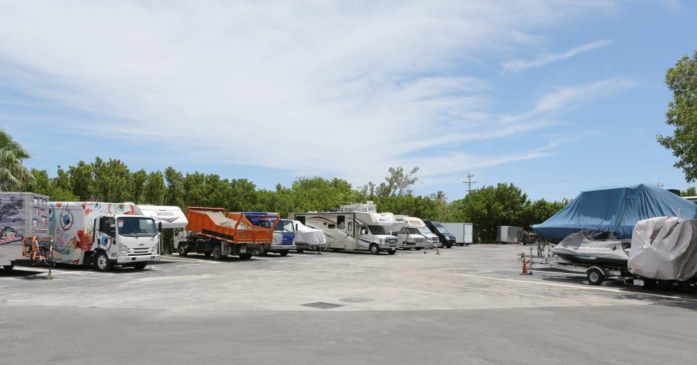 RV storage at Midgard Self Storage in Key West, Florida