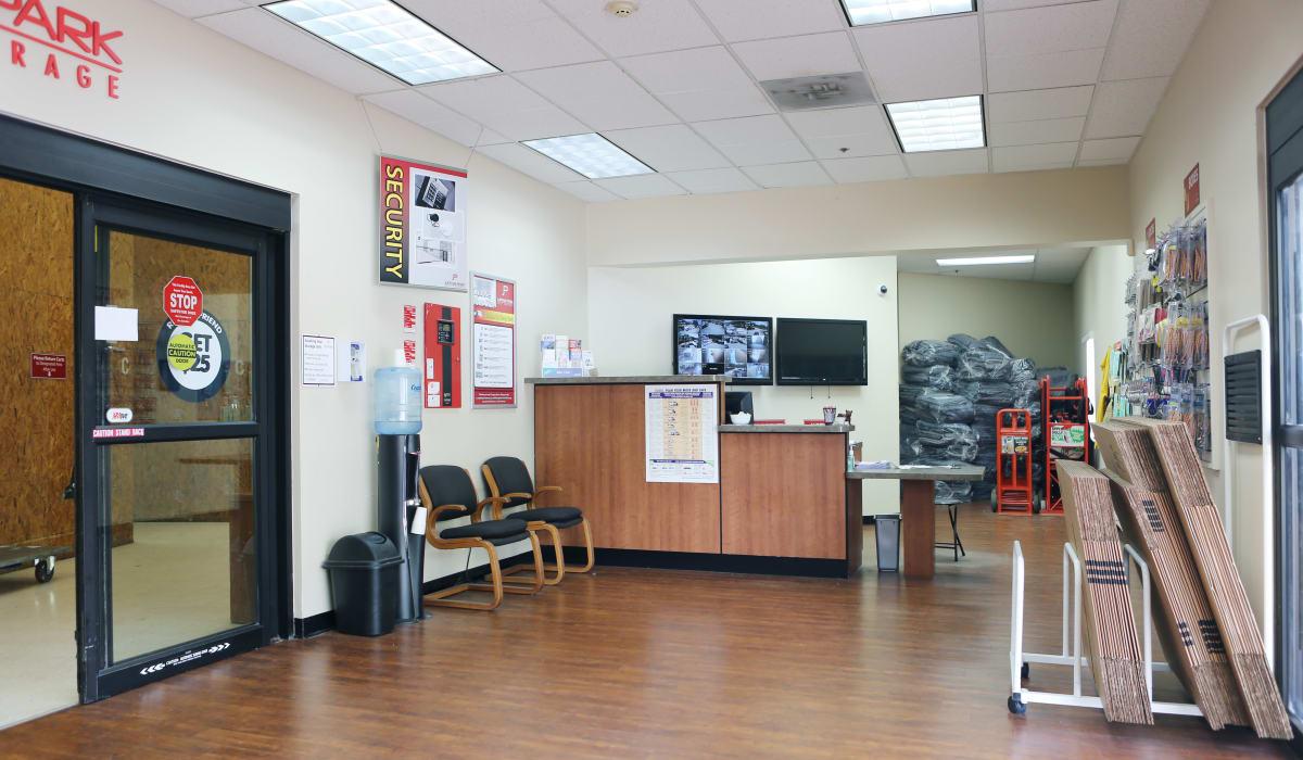 Leasing office at Jupiter Park Self Storage in Jupiter, Florida