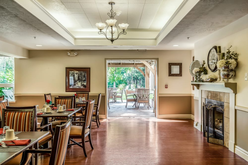 Dining room at Canyon Creek in Cottonwood Heights, Utah.