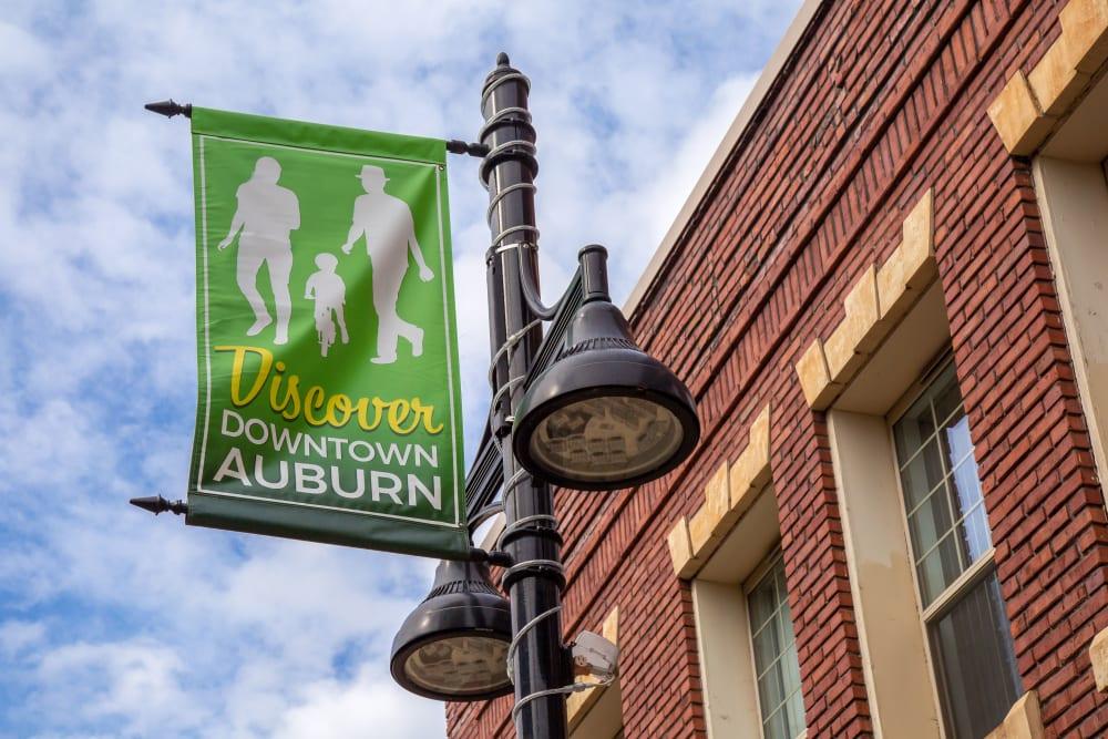 Banner near The Verge in Auburn, Washington