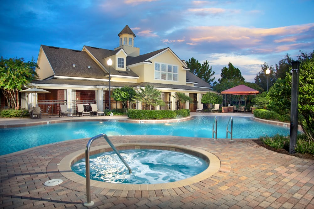 Beautiful outdoor pool at Provenza at Southwood in Tallahassee, Florida