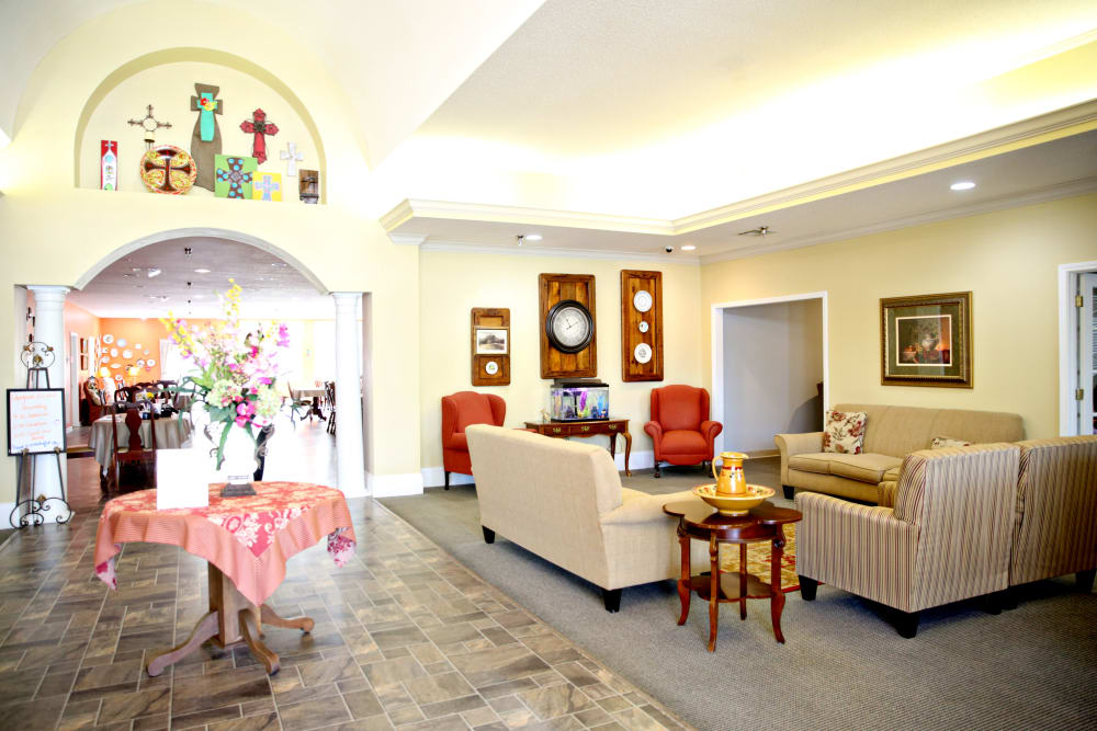 Resident community room at Providence Assisted Living in Batesville, Mississippi.