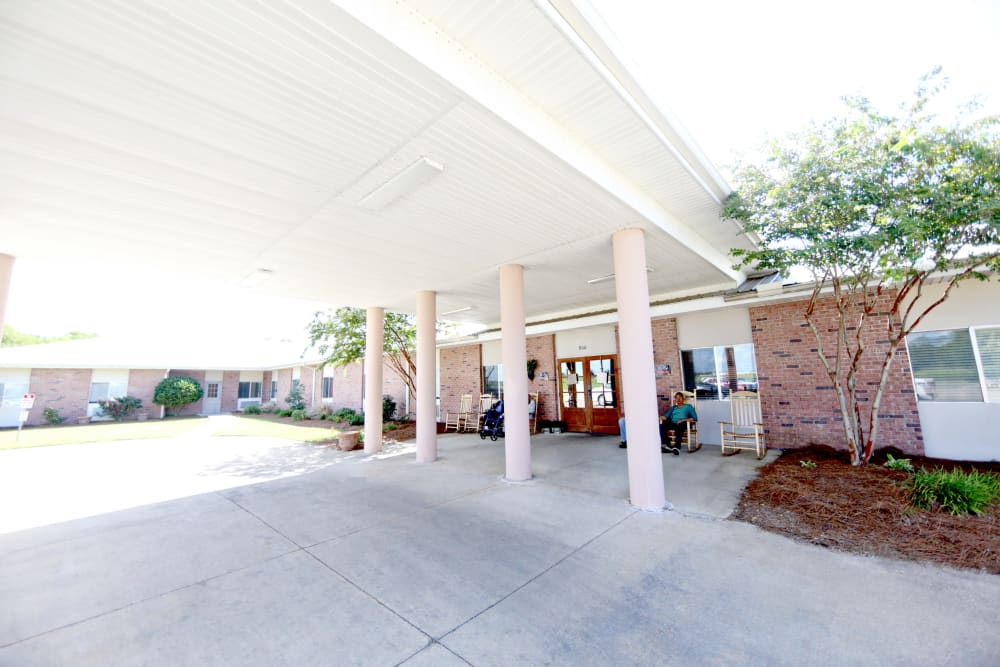 Main entrance to Providence Assisted Living in Cleveland, Mississippi.