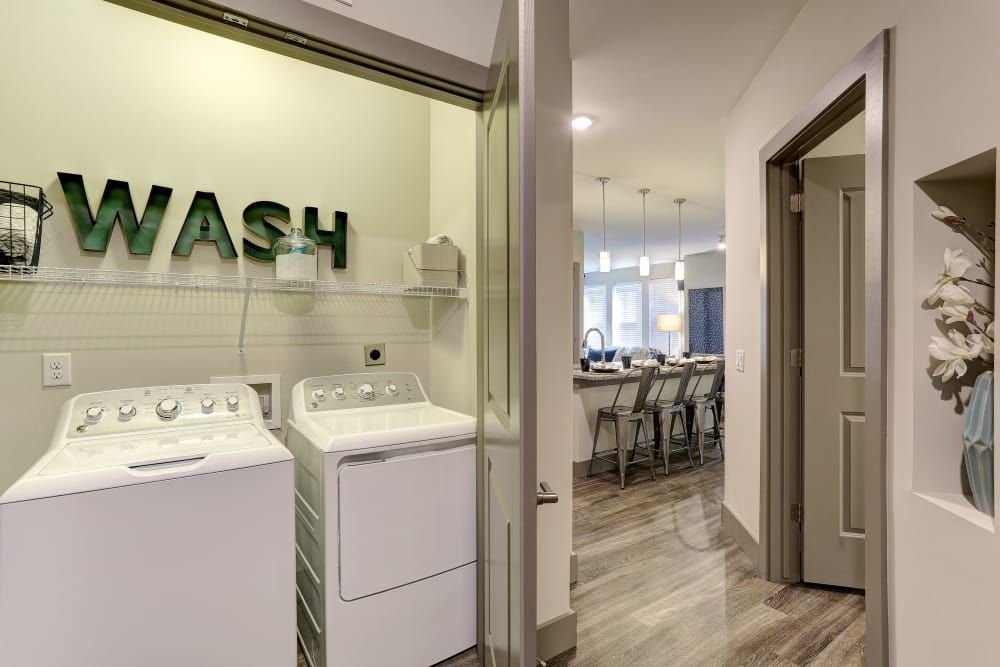 In-Suite laundry at The Sawyer at One Bellevue Place in Nashville, Tennessee