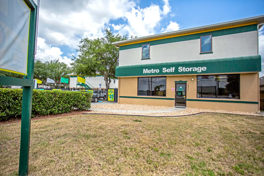 Leasing office at Metro Self Storage in Wesley Chapel, Florida