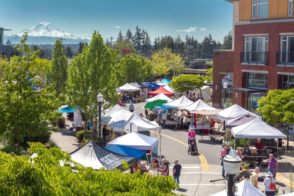 A local market near Merrill Gardens at Burien is in Burien, Washington.