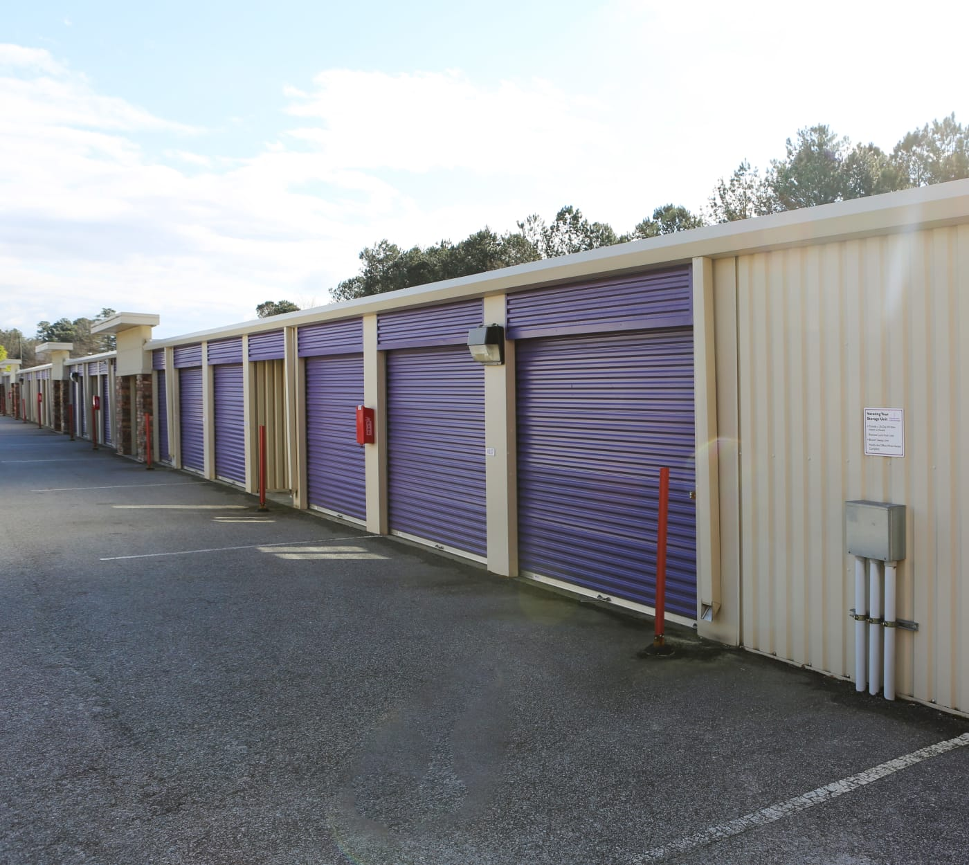 Ground-floor units at StoreSmart Self-Storage in Columbia, South Carolina