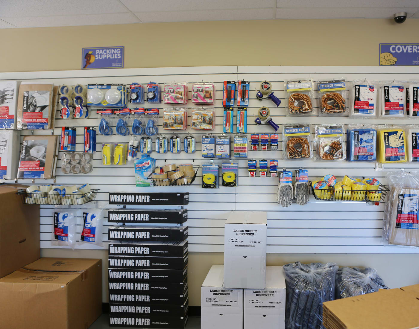 Packing and moving supplies for sale at StoreSmart Self-Storage in Conway, Arkansas