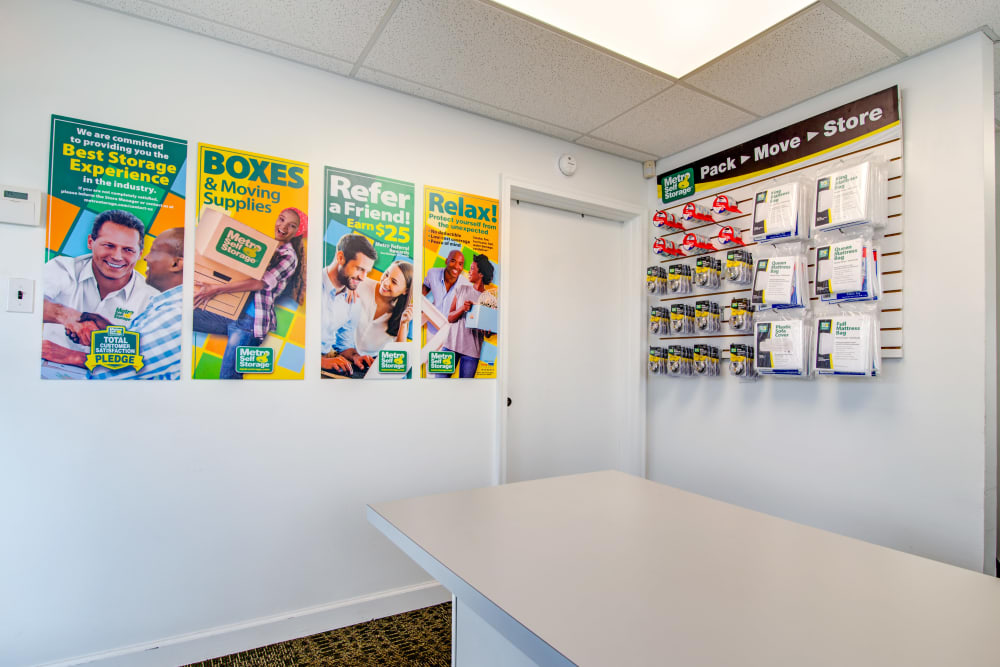 Leasing office interior at Metro Self Storage in Knoxville