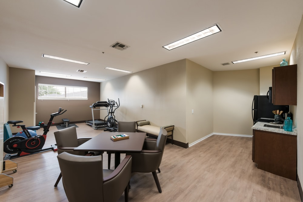 Fitness area at Waterview Court in Shreveport, Louisiana.