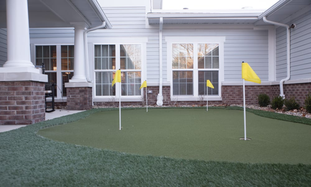 Putting green at  Smith's Mill Health Campus