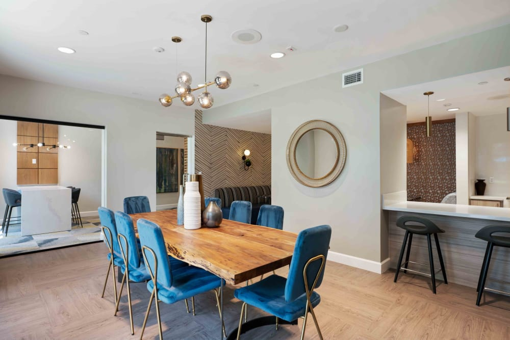 Dining room at Sofi Warner Center in Woodland Hills, CA