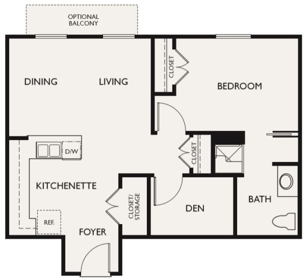 Plan C floor plans at The Inn at Greenwood Village in Greenwood Village, Colorado