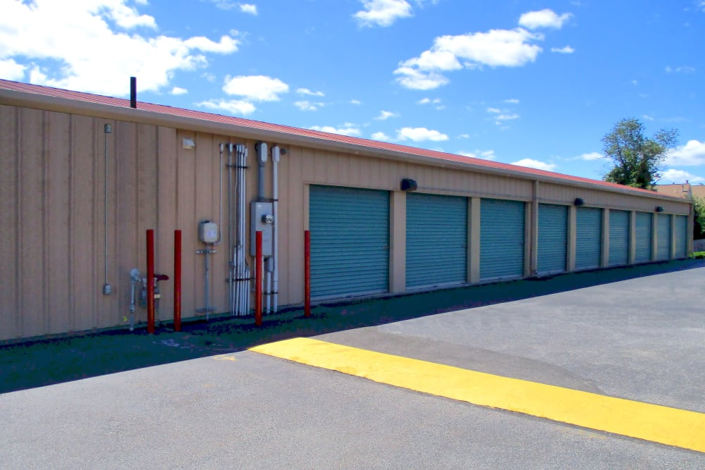 Wide driveways at Prime Storage