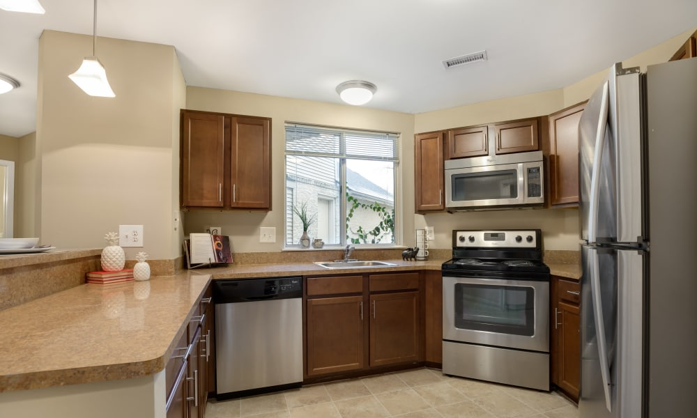 Kitchen at Amberly in West Bloomfield, Michigan