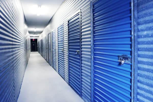 Interior units at Midgard Self Storage in Cocoa, Florida