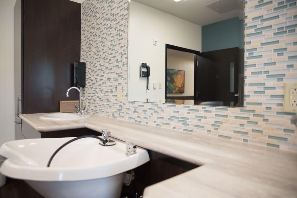 Restroom Sink at Sanders Ridge Health Campus