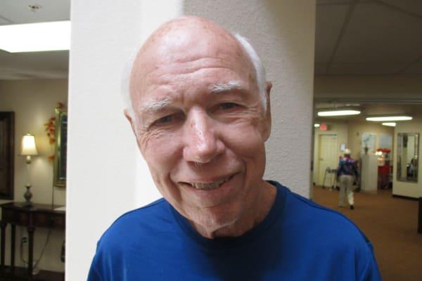 Frank Gossinger at Salishan Gracious Retirement Living in Spring Hill, Florida