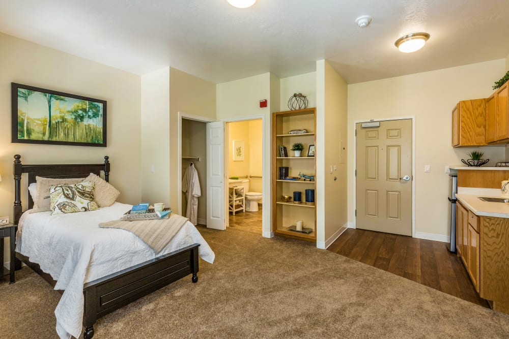 Studio apartment at Canyon Creek in Cottonwood Heights, Utah.
