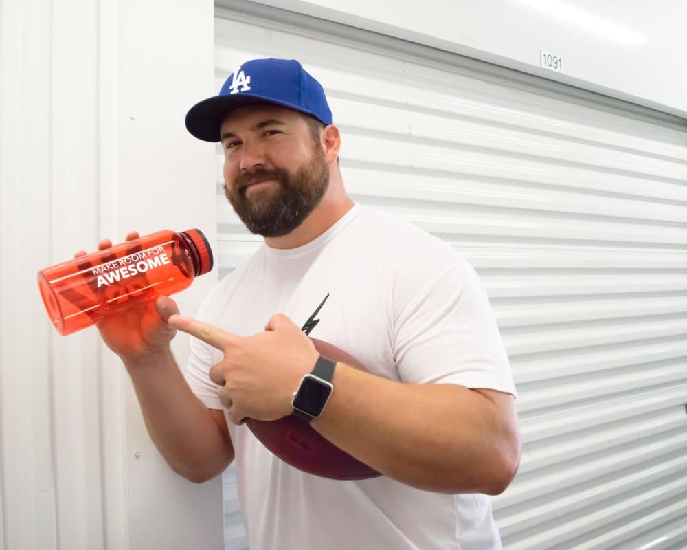 Ryan Kalil ambassador for StorQuest Self Storage in Santa Monica, California