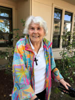 Fran, resident at Merrill Gardens at Willow Glen in San Jose, California.