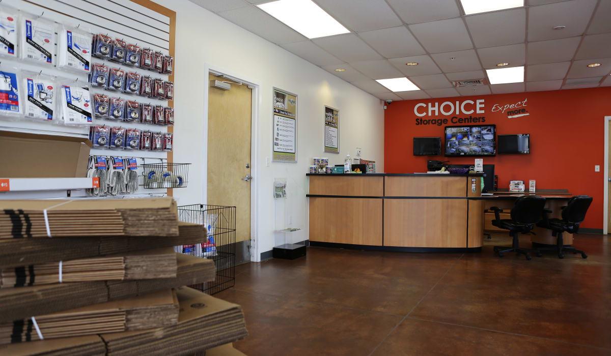 Leasing office at Midgard Self Storage in Key West, Florida