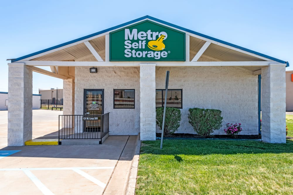 Entrance at Metro Self Storage in Lubbock, Texas