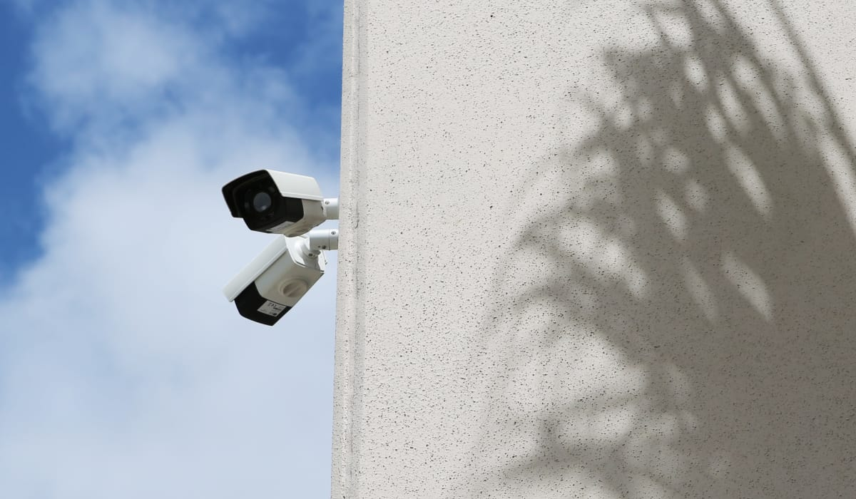 Security camera at Jupiter Park Self Storage in Jupiter, Florida