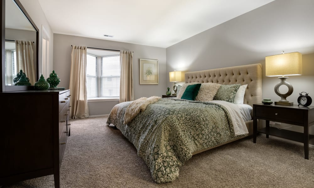 Bedroom at Amberly in West Bloomfield, Michigan