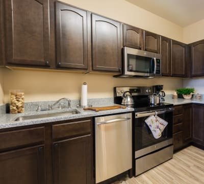 Kitchen at The Enclave at Round Rock Senior Living in Round Rock, Texas
