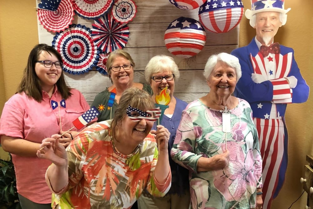 celebrating the Fourth of July at The Pines, A Merrill Gardens Community in Rocklin, California.