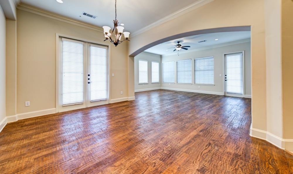 Marquis at Stone Oak has beautiful wooden floors