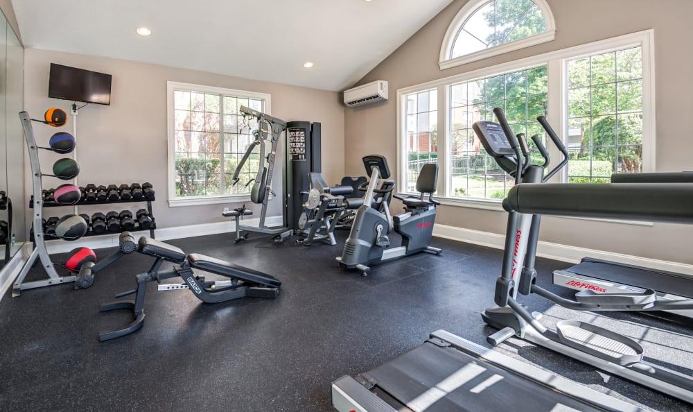 Stay healthy in our well equipped fitness center at The Village Apartments