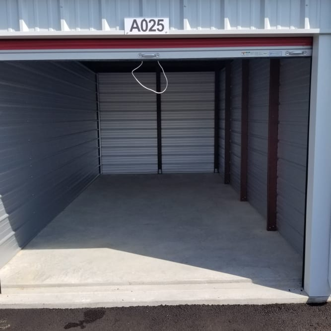 Interior of 10x20 storage unit