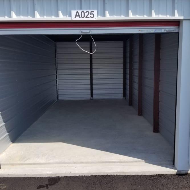 Interior of 10x20 storage unit