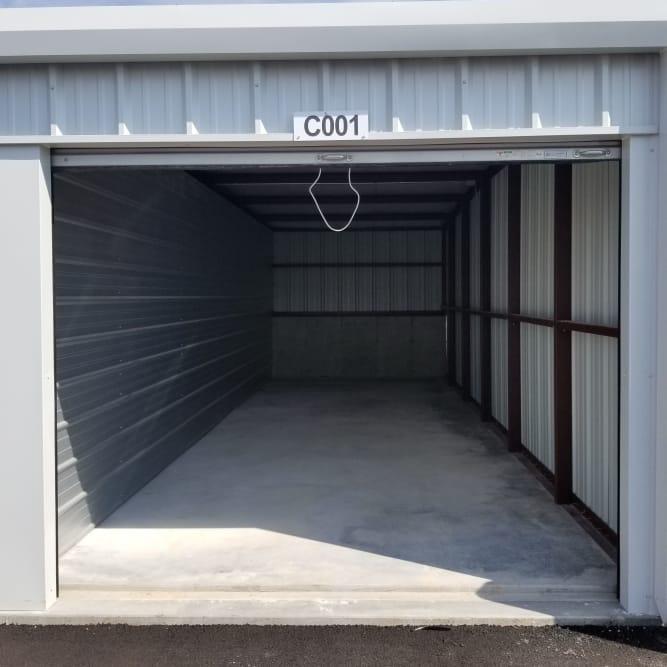 Interior of 10x30 storage unit