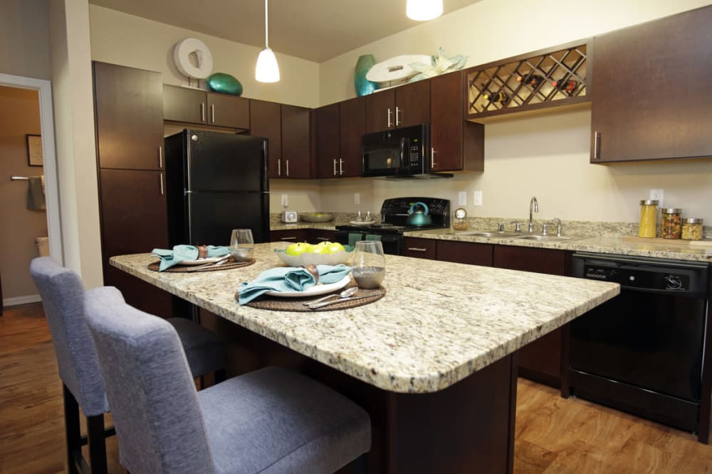 Two Bedroom Apartment Home Kitchen Springs at Kenosha Apartments in Kenosha