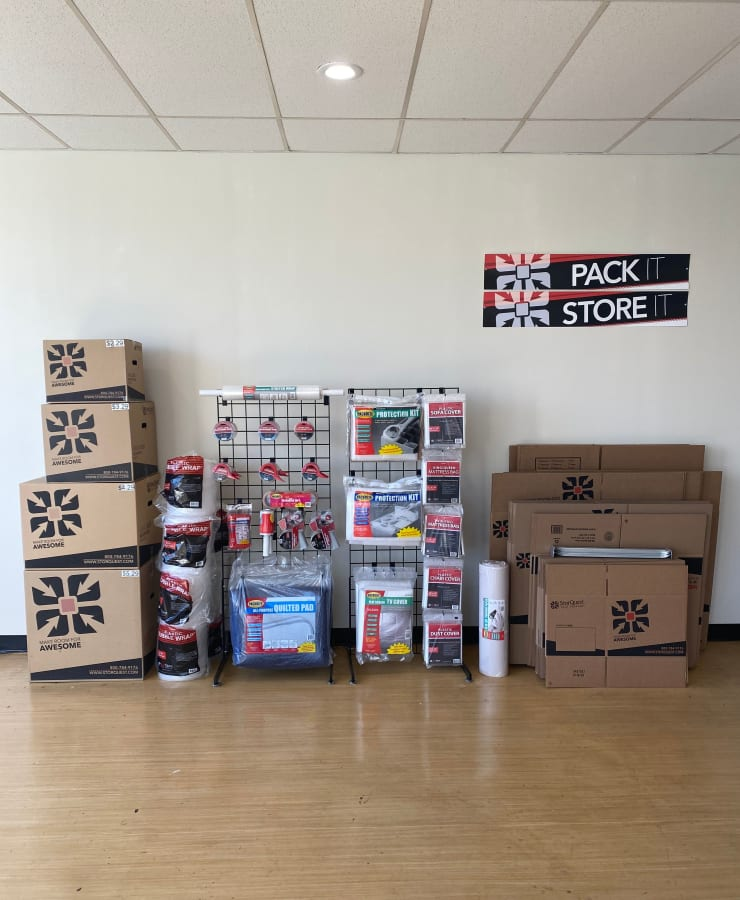 Packing supplies available at StorQuest Self Storage in Oakland, California