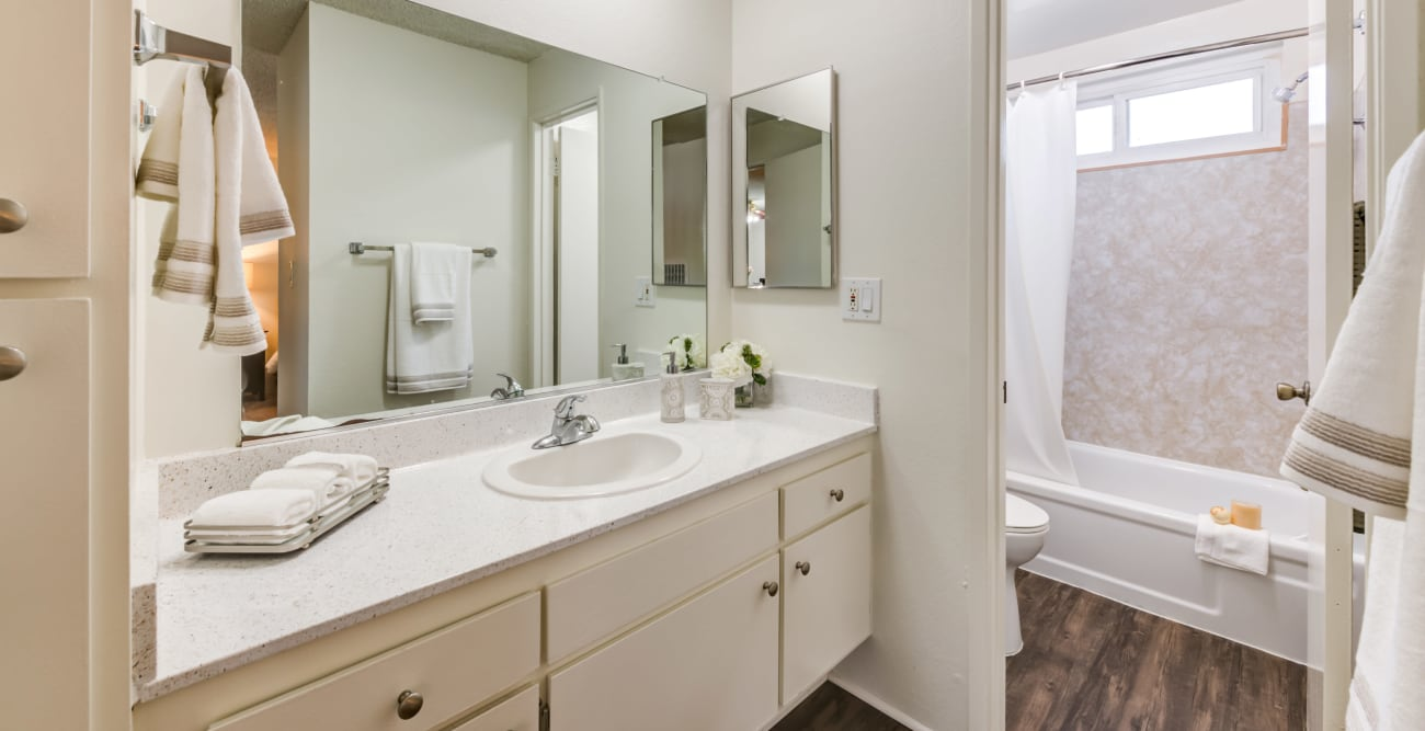 Bathroom at The Pavillion in Tarzana, CA