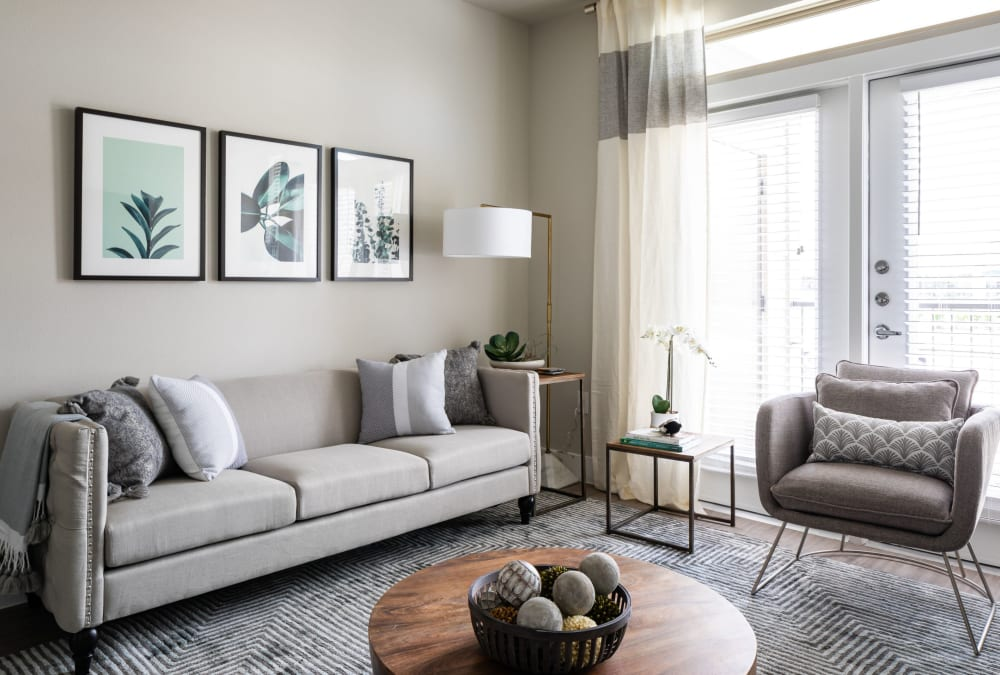 Open-concept floor plan with high-end finishes at Opal at Barker Cypress in Houston, Texas