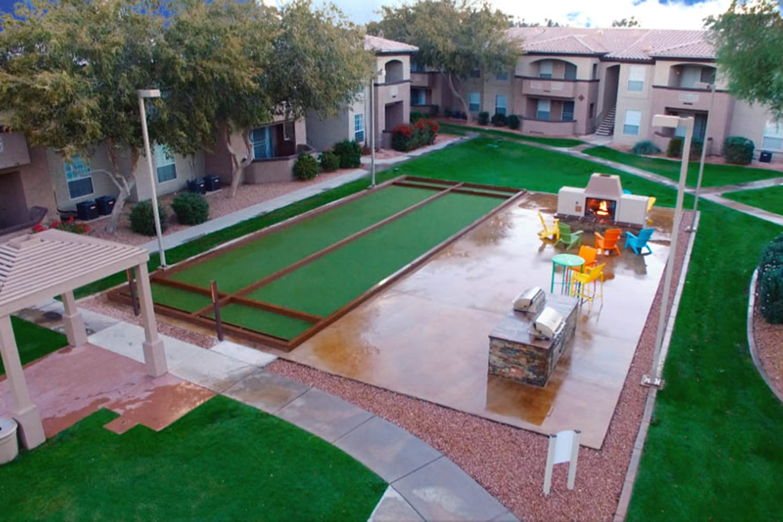 Outdoor recreation area at Ocotillo Bay Apartments in Chandler, Arizona