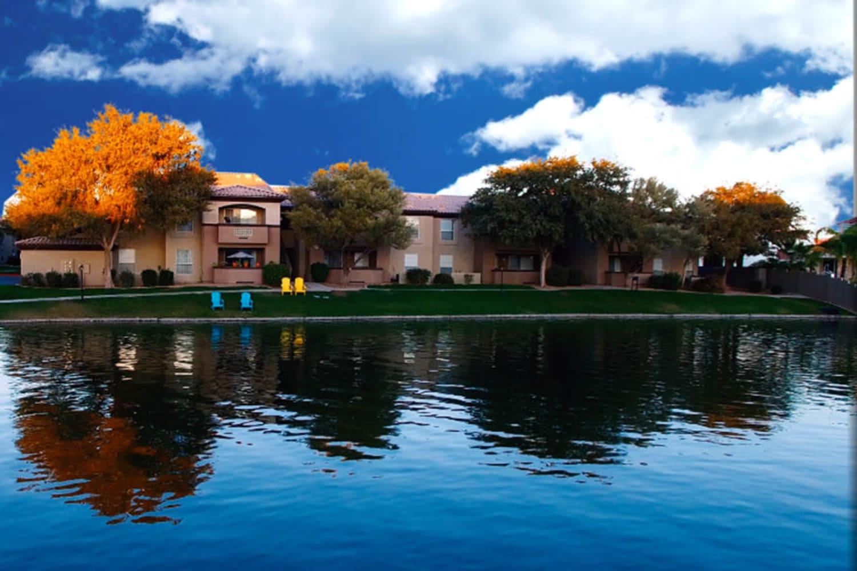 Ocotillo Bay Apartments in Chandler, Arizona, waterfront
